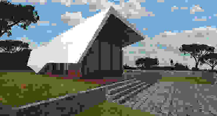 PT - Vista Entrada Principal EN - Entrace View Casas modernas por Office of Feeling Architecture, Lda Moderno