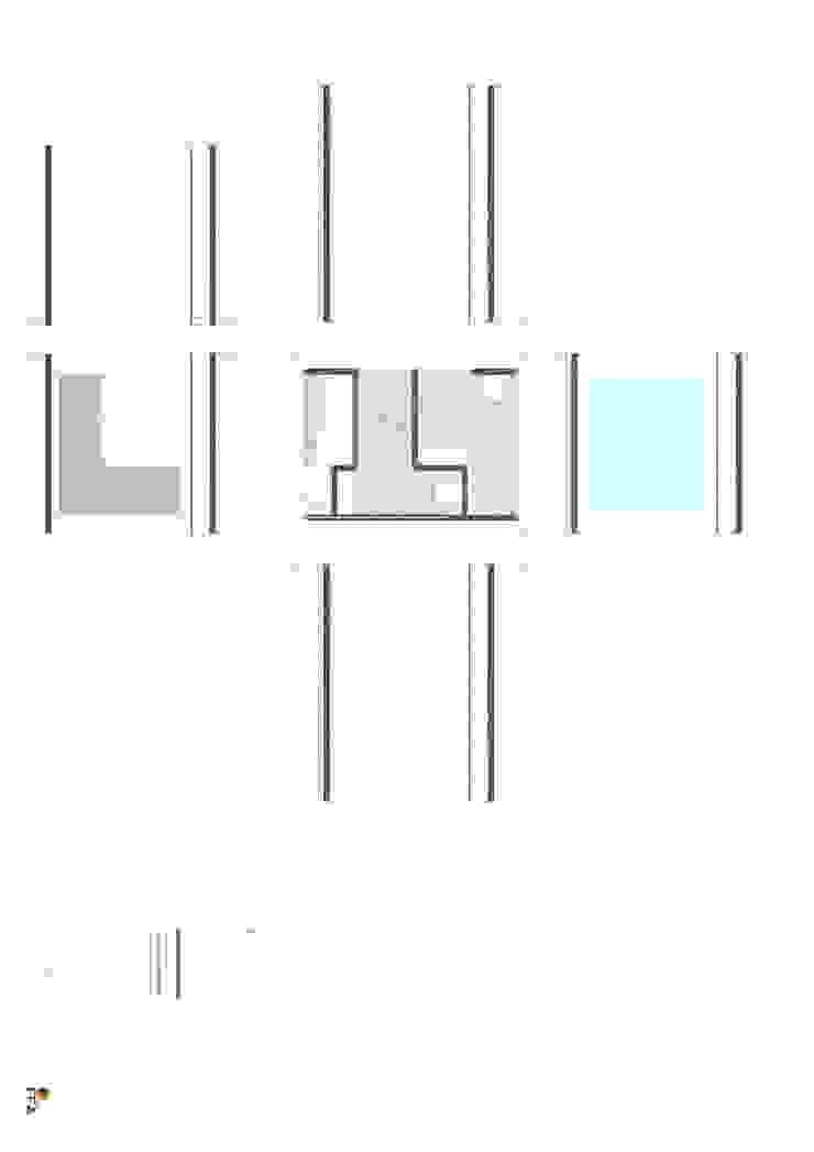 PT - Detalhe da Utility Box EN - Detail da Utility Box Casas modernas por Office of Feeling Architecture, Lda Moderno