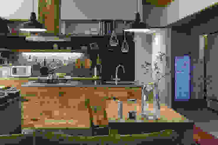 根來宏典建築研究所 ห้องครัว ไม้ Wood effect
