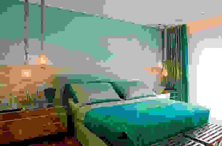 غرفة نوم تنفيذ Brunete Fraccaroli Arquitetura e Interiores,