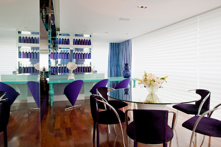 Eclectic style dining room by Brunete Fraccaroli Arquitetura e Interiores Eclectic