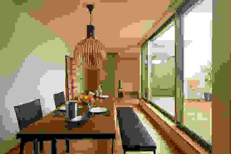アークス建築デザイン事務所 Dining roomLighting Wood Brown
