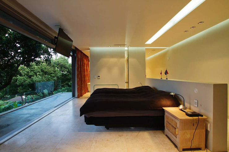 Incredible modern house in the heart of Ballito:  Bedroom by CA Architects, Modern
