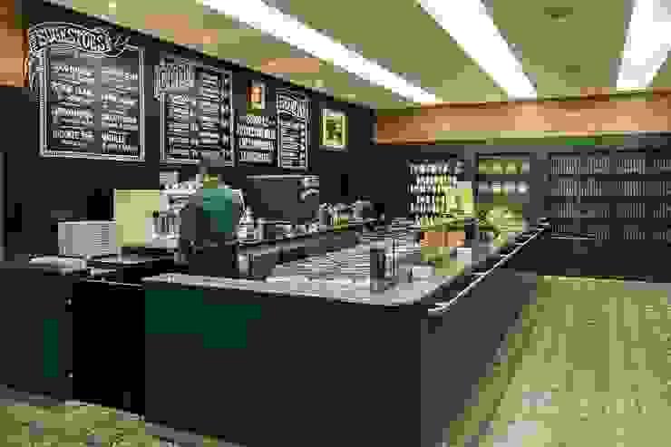 Riskalla & Mueller Arquitetura e Interiores 모던 스타일 바 & 클럽 알루미늄 / 아연 녹색