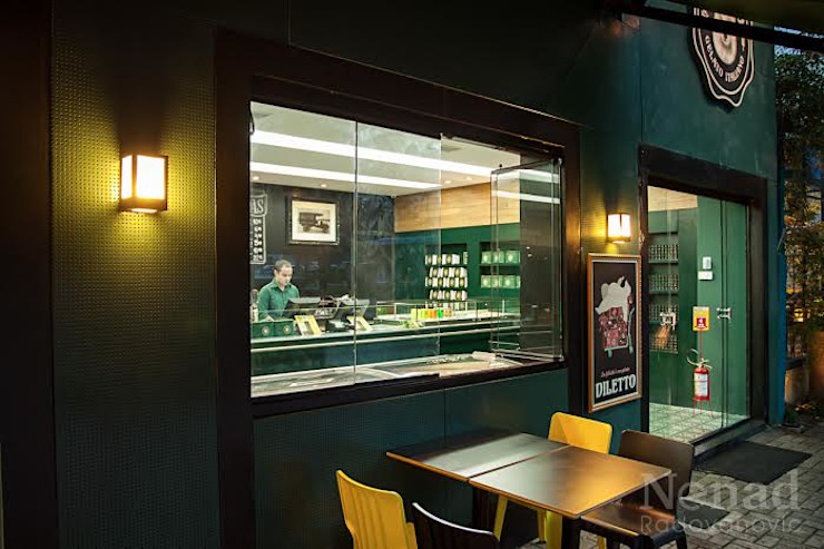 Riskalla & Mueller Arquitetura e Interiores Bars & clubs Glass Green