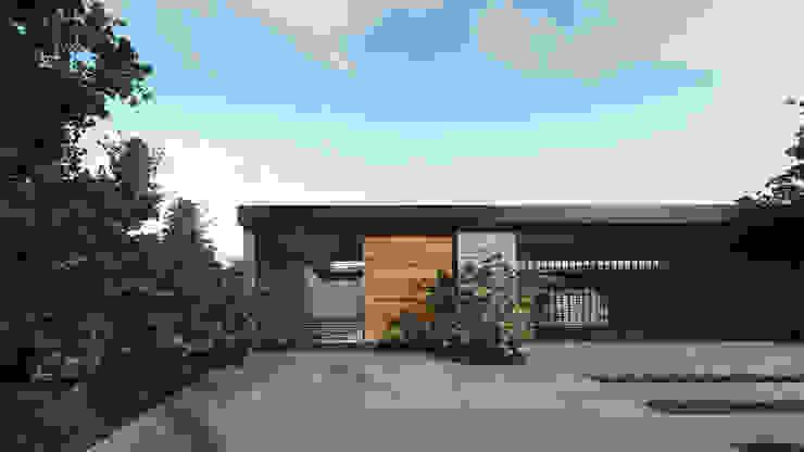 Fachada Oriente Casas modernas de HAC Arquitectura Moderno