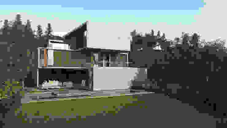Fachada Poniente Casas modernas de HAC Arquitectura Moderno