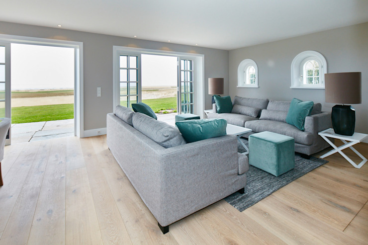 SALLIER WOHNEN SYLT Living roomStools & chairs Textile Turquoise