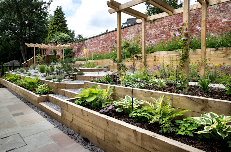Modern Garden with a rustic twist Сад в стиле модерн от Yorkshire Gardens Модерн