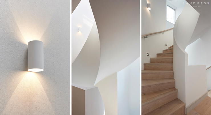 STAIR Modern corridor, hallway & stairs by Landmass London Modern