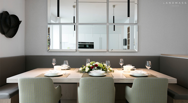 Dining room by Landmass London, Modern