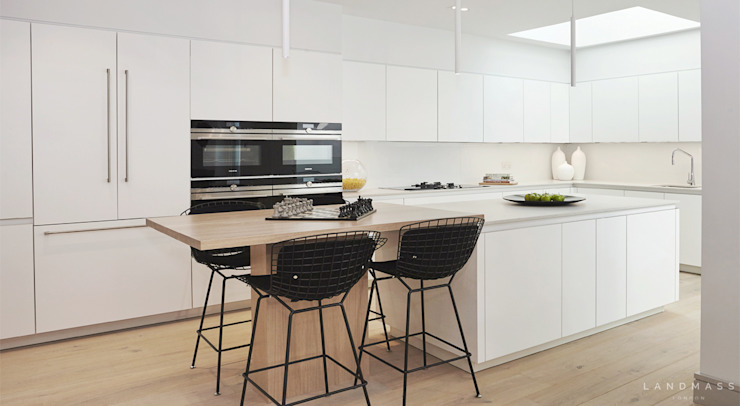 KITCHEN Modern style kitchen by Landmass London Modern