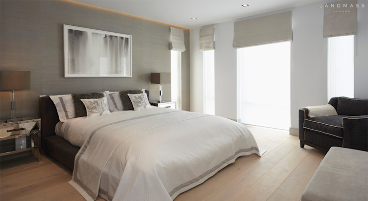 MASTER BEDROOM Modern style bedroom by Landmass London Modern