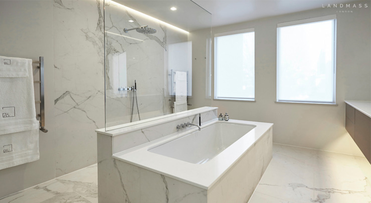 MASTER BATHROOM Modern bathroom by Landmass London Modern