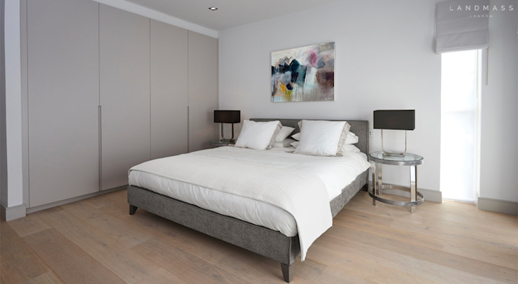GUEST BEDROOM Modern style bedroom by Landmass London Modern