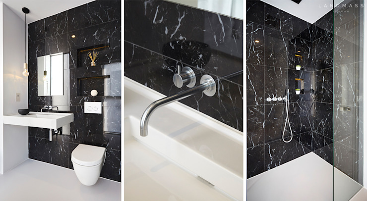 EN - SUITE Modern style bathrooms by Landmass London Modern
