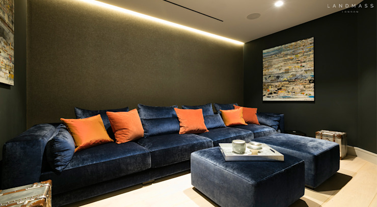 Media room by Landmass London, Modern