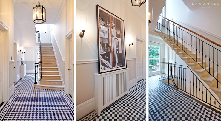 ENTRANCE Landmass London Classic style corridor, hallway and stairs