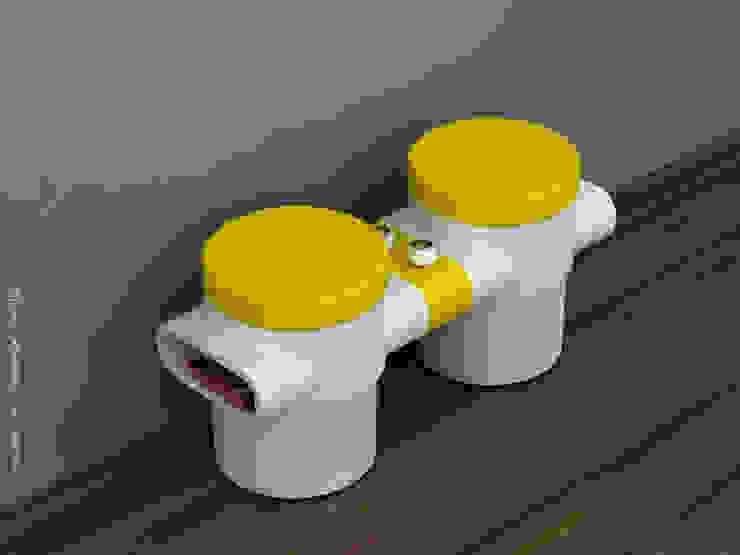 Twin stools fixed: modern  by Preetham  Interior Designer,Modern