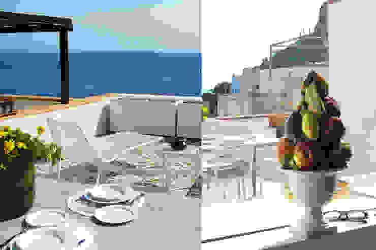 Sea House -Levanzo Balcone, Veranda & Terrazza in stile mediterraneo di Fabio Azzolina Architetto Mediterraneo