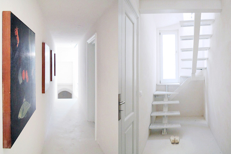 Sea House -Levanzo Ingresso, Corridoio & Scale in stile mediterraneo di Fabio Azzolina Architetto Mediterraneo