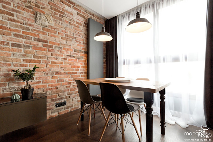MANGO STUDIO Modern Dining Room Bricks
