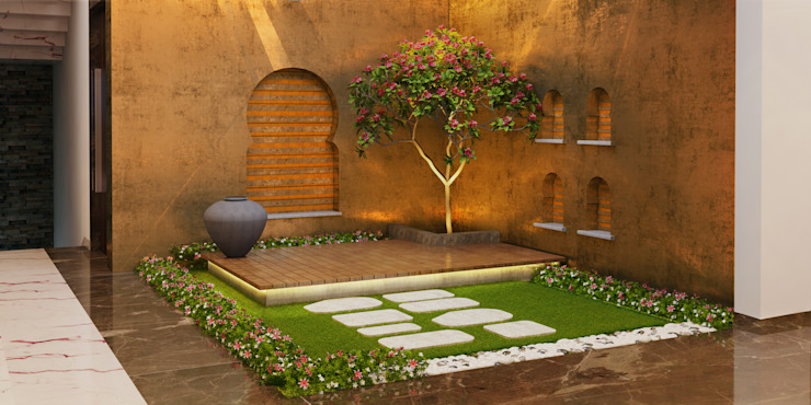 Jardines de estilo  por Space Craft Associates, Moderno