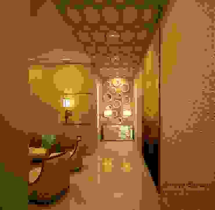 Entrance Lobby Modern corridor, hallway & stairs by Shreya Bhimani Designs Modern