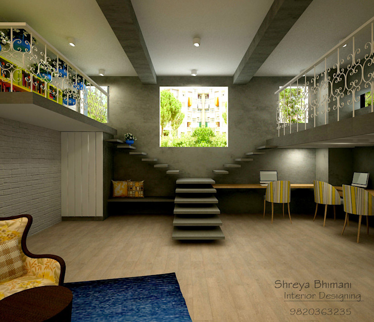Staircase Modern Corridor, Hallway and Staircase by Shreya Bhimani Designs Modern