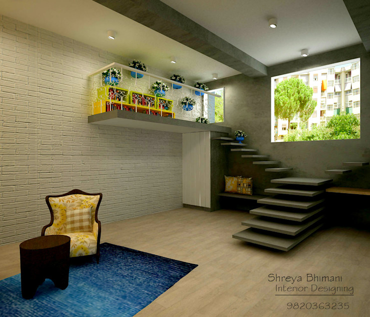 Main Entrance Modern corridor, hallway & stairs by Shreya Bhimani Designs Modern