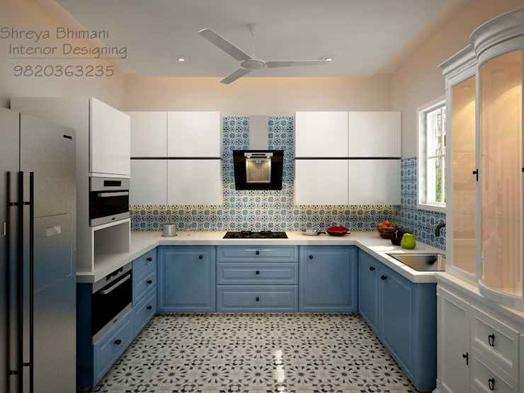 Kitchen Shreya Bhimani Designs Eclectic style kitchen Blue