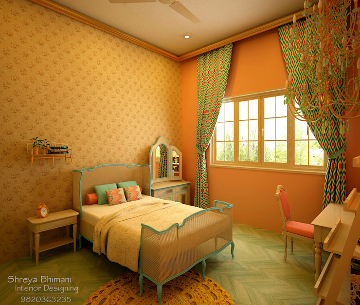 Teen's Room:  Bedroom by Shreya Bhimani Designs,Modern