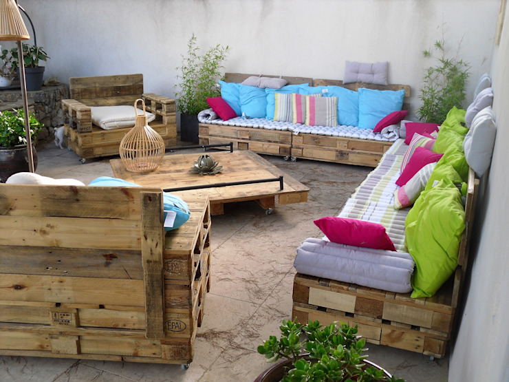 amour de palette création Garden Furniture Kayu Wood effect