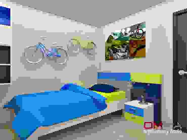 غرفة الاطفال تنفيذ om-a arquitectura y diseño, حداثي