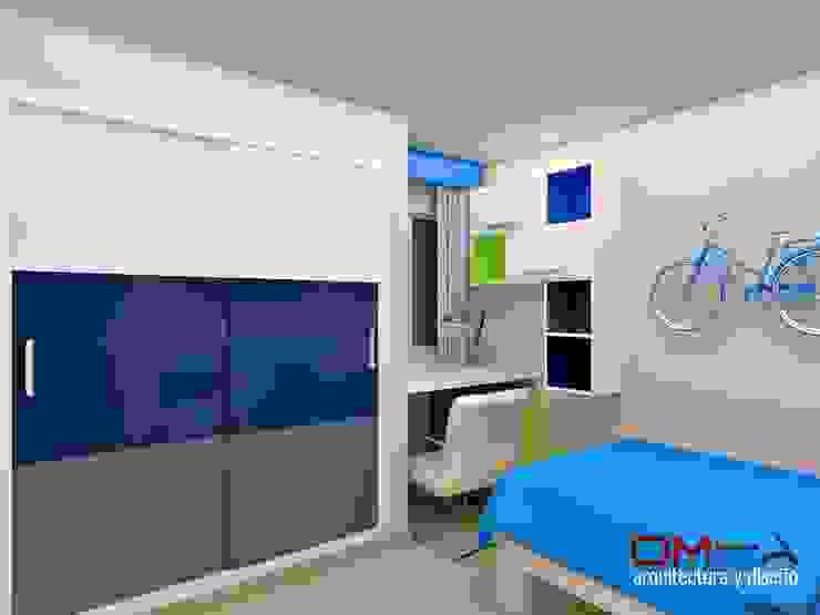 Diseño interior en apartamento, espacio dormitorio de niño Habitaciones para niños de estilo moderno de om-a arquitectura y diseño Moderno