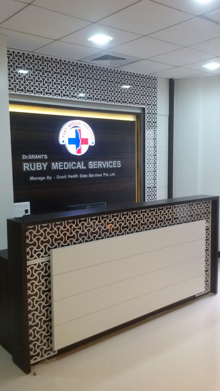 Ruby medical centre : modern  by puzzle ,Modern Plywood