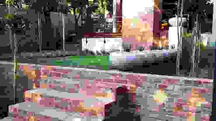Menlo Park Modern Corridor, Hallway and Staircase by Gorgeous Gardens Modern