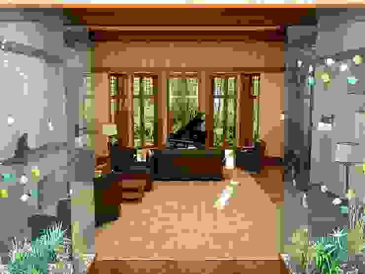 Интерьер в стиле Райта Гостиная в классическом стиле от Design studio of Stanislav Orekhov. ARCHITECTURE / INTERIOR DESIGN / VISUALIZATION. Классический