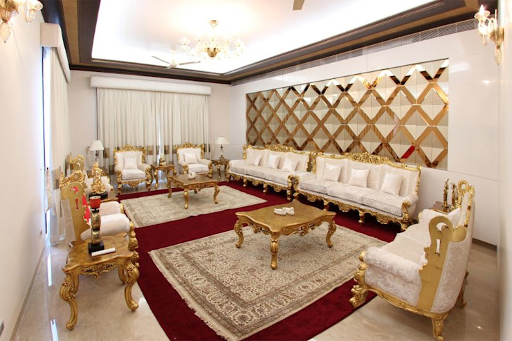 Interior Design Services Saffron Touch - Interior Architecture Construction Classic style living room Engineered Wood Yellow