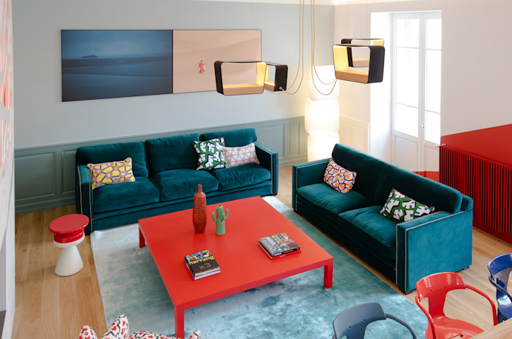 Salas de estar modernas por Agence d'architecture intérieure Laurence Faure Moderno