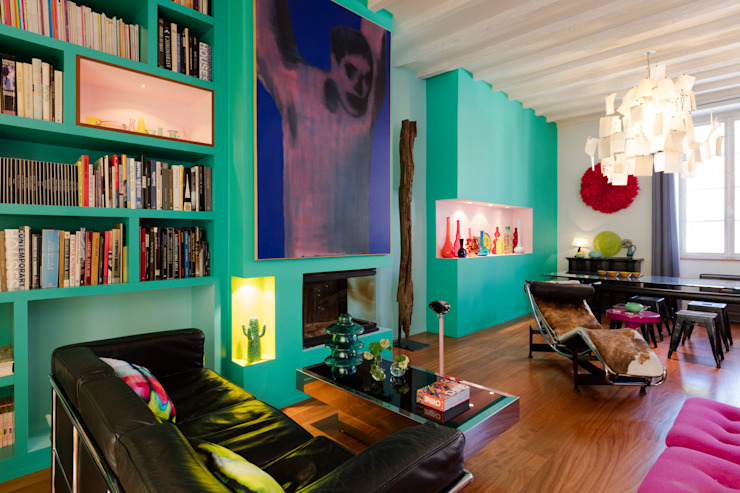 Modern Living Room by Agence d'architecture intérieure Laurence Faure Modern