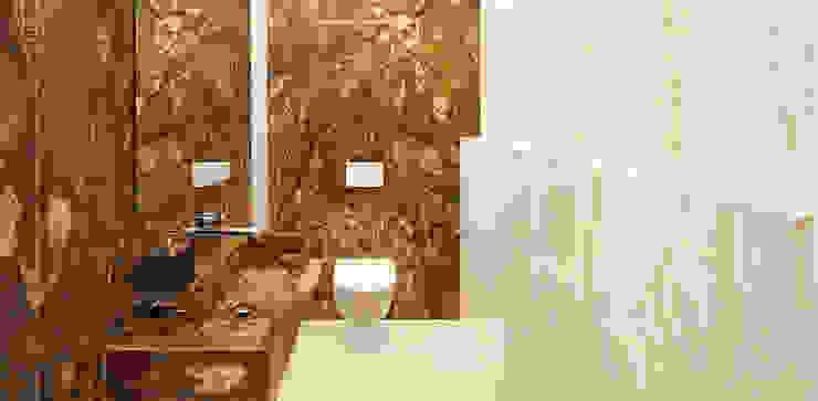 KLEINES BAD – GROSSE WIRKUNG! Moderne Badezimmer von HUBER NATURSTEIN bei München Modern Marmor