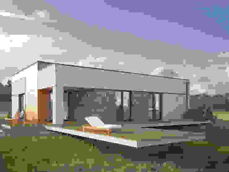 Casas de estilo  por Biuro Projektów MTM Styl - domywstylu.pl, Moderno