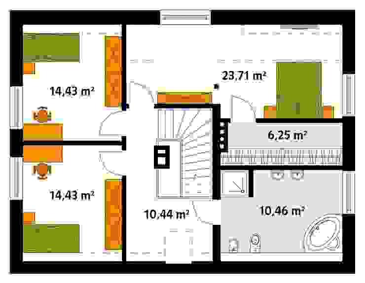 Biuro Projektów MTM Styl - domywstylu.pl Paredes y pisos de estilo rural