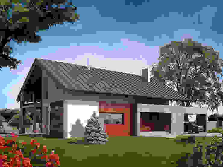 Wizualizacja projektu domu Onyks Nowoczesne domy od Biuro Projektów MTM Styl - domywstylu.pl Nowoczesny