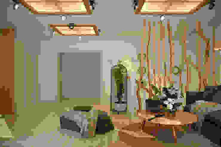 Дизайн 2 этажа в станице Смоленская Гостиная в стиле кантри от Студия интерьерного дизайна happy.design Кантри