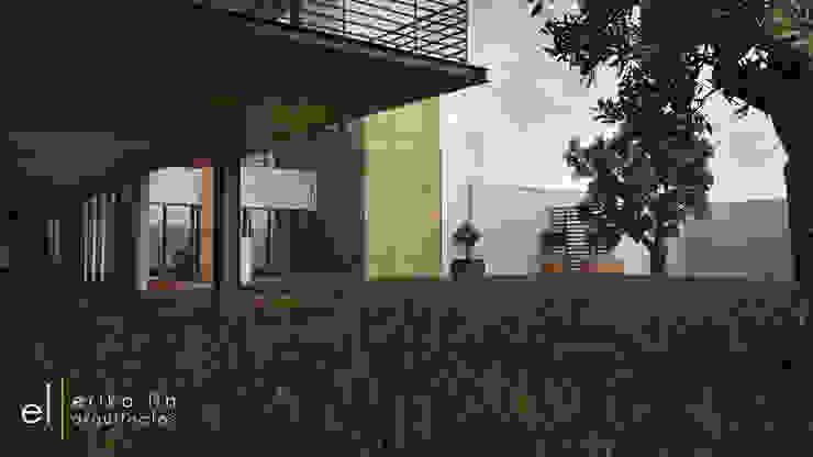 Casa San Quintin Jardines modernos de ERIKA LIN Moderno Concreto