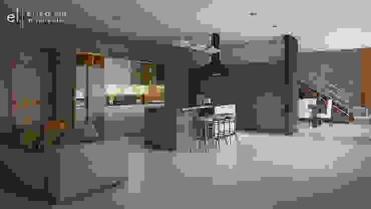 Casa San Quintin Cocinas modernas de ERIKA LIN Moderno Madera Acabado en madera