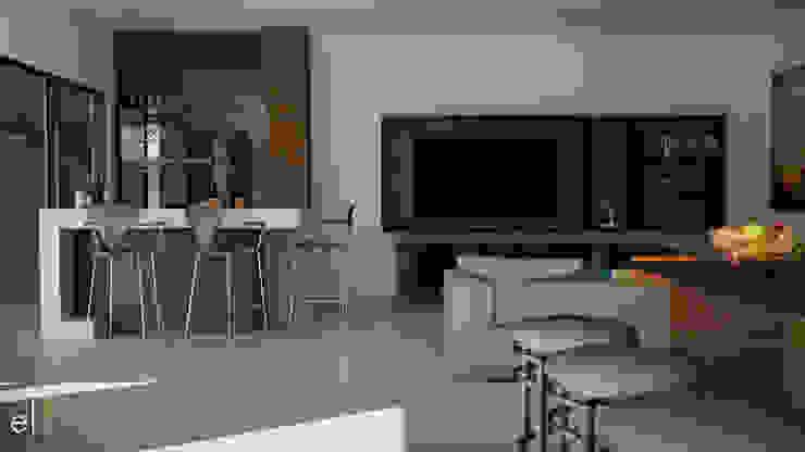 Casa San Quintin Salas multimedia modernas de ERIKA LIN Moderno Madera Acabado en madera