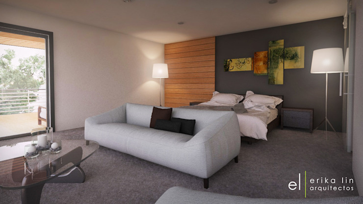 Casa San Quintin Dormitorios modernos de ERIKA LIN Moderno Madera Acabado en madera